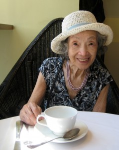 Granny enjoying High Tea